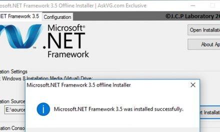 WIndows 10 .NET Framework 3.5 Yükleme [ÇÖZÜLDÜ]